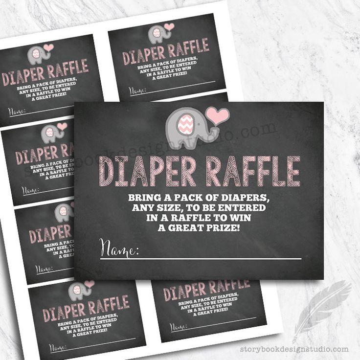 Elephant Baby Shower Diaper Raffle Tickets / Printed Set of 10  | eBay