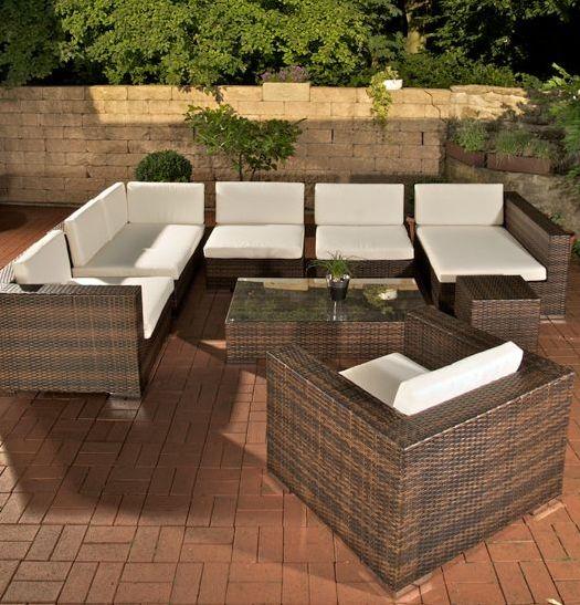 CLP Garten Loungemöbel Set BARCELONA Aluminium + Polyrattan, 6 Sitzplätze  Garnitur Mit 25 Verschiedenen Farbkombinationen Wählbar