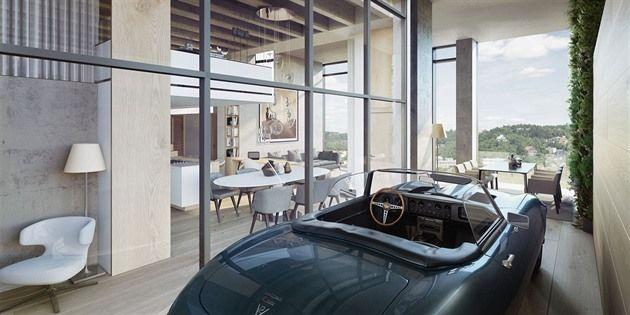 Luxusní dům v pražských Modřanech v bývalé továrně na letecké přístroje bude mít výtah pro auta s parkováním přímo u loftu, bazén v podobě akvária a zahradu na střeše. Jednotky od 41 do 795 metrů čtverečních navrhnou čtyři architektonická studia.