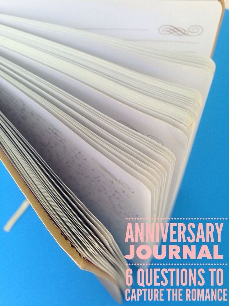 Anniversary Journal - 6 Questions to Capture the Romance. This is a great tradition to start no matter how many years you                                                                                                                                                                                 More