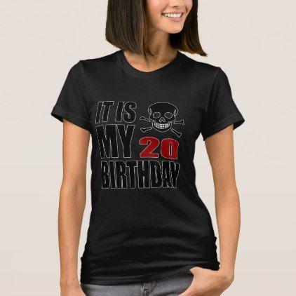 #It Is My 20 Birthday Designs T-Shirt - #giftidea #gift #present #idea #number #twenty #twentieth #bday #birthday #20thbirthday #party #anniversary #20th