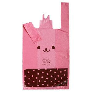 Super Cute Plastic Bags Pink Rabbit  Poly bags for by morecozy, $5.70