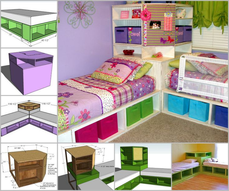 How to DIY Space Saving Corner Twin Beds Set | www.FabArtDIY.com LIKE Us on Facebook ==> https://www.facebook.com/FabArtDIY
