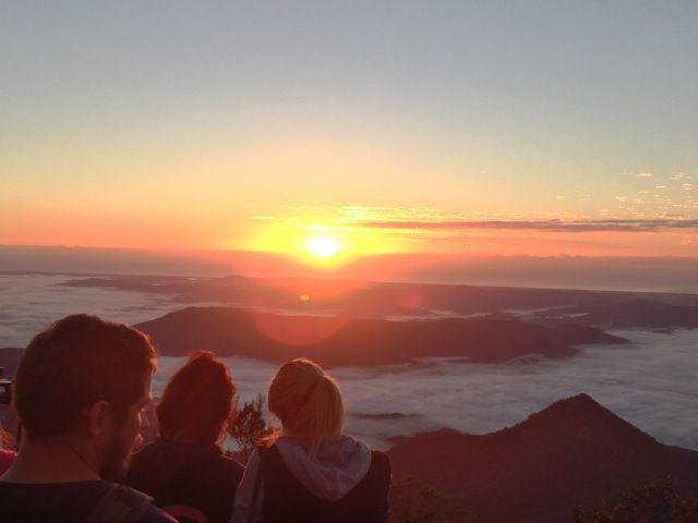 Mount warning - first sunrise in mainland Australia