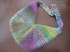 modular mitered knitting | ... Tags: bag knitting origami handmade purse striped noro mitered lotorp