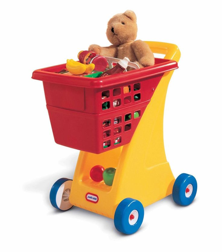 Shopping Cart For Kids Toy Little Tikes Red Yellow Deep Basket Storage  #LittleTikes