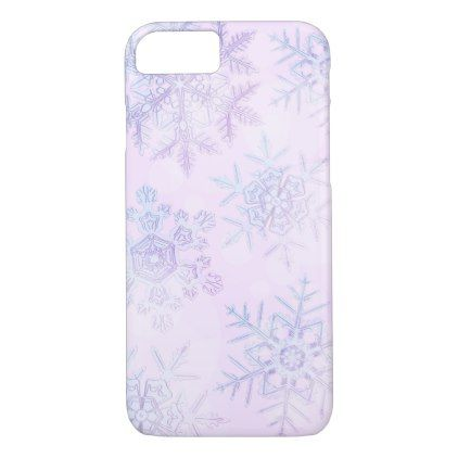 Crystalline Snowflakes Light Pink Phone Case - light gifts template style unique special diy