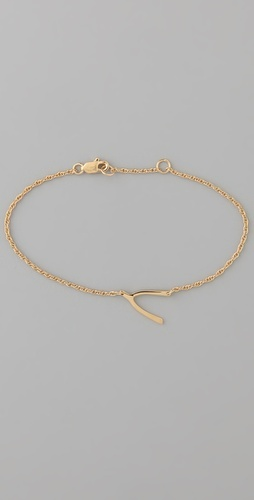 wish bone: Chain Bracelets, Charm Bracelets, Wishbone Bracelet, Gold Bracelets, Simple Wishbone, Simple Gold, Bone Simple, Classic Wishbone, Bone Sweet