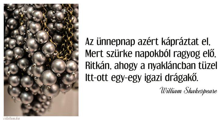 William Shakespeare idézet az ünnepnapokról.
