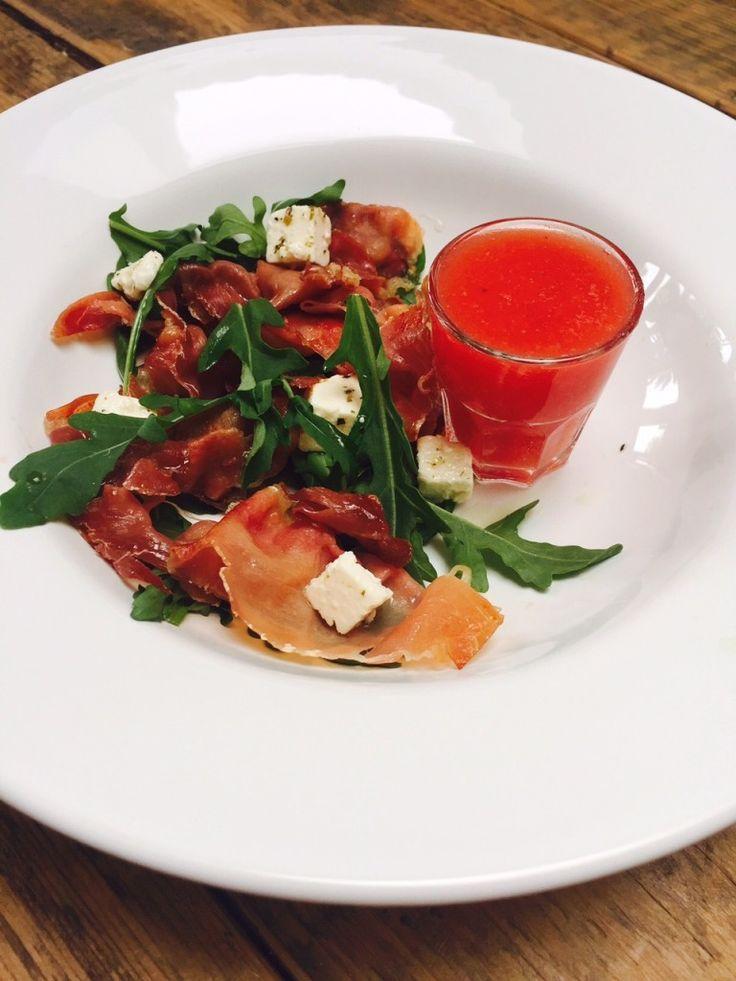meloen met ham en fetasalade voorgerecht foodblog Foodinista recept