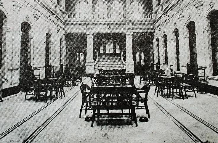 Interior del antiguo Club Concepción, posteriormente demolido después del terreoto de 1939 y construido el edficio actual