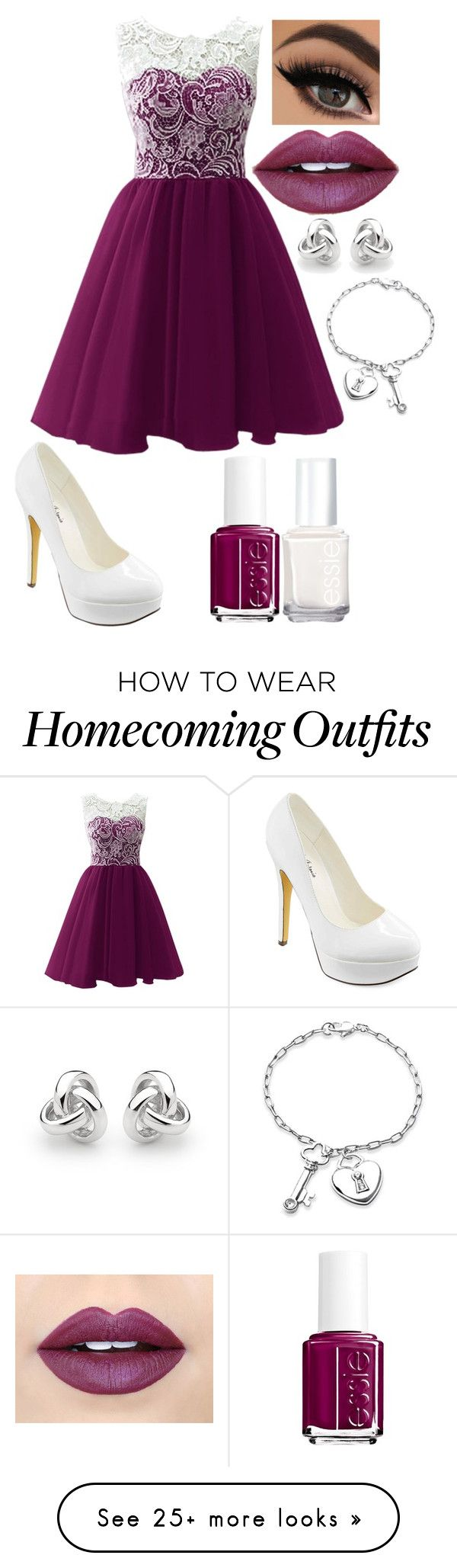 """Wine"" by xdreamerxjoulesx on Polyvore featuring Michael Antonio, Georgini, Bling Jewelry, Fiebiger and Essie"