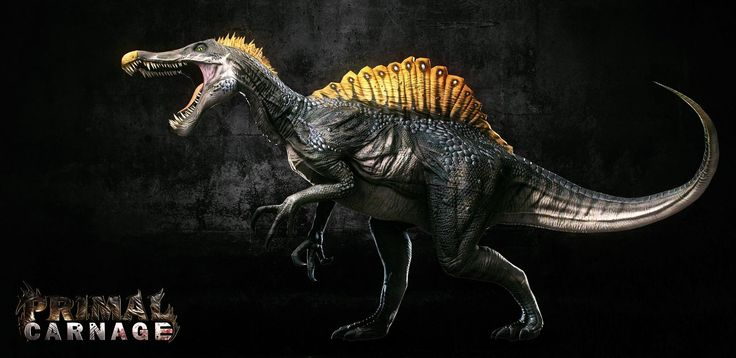 Primal Carnage Spinosaurus, Kevin Bryant on ArtStation at https://www.artstation.com/artwork/primal-carnage-spinosaurus