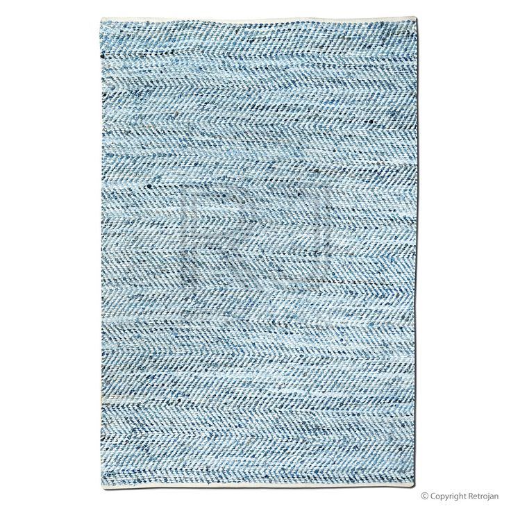 Atlas Recycled Denim & Leather Rug | $199.00