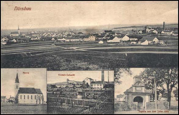 1915 Nýřany. Nurschan.
