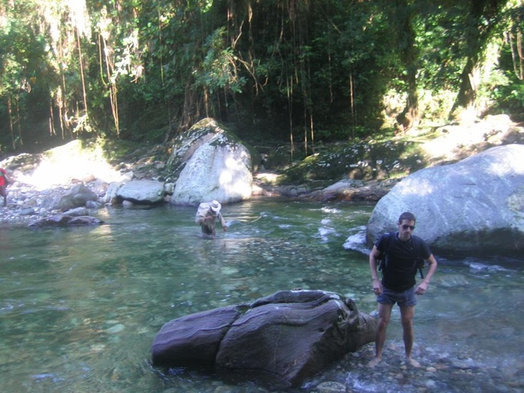 You have to cross the river a lot while doing the trek to Ciudad Perdida. More information: www.ciudadperdidatour.com