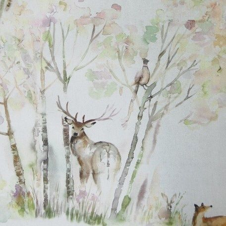 Stunning Enchanted Forest Stag Deer Wall Art Wallpaper