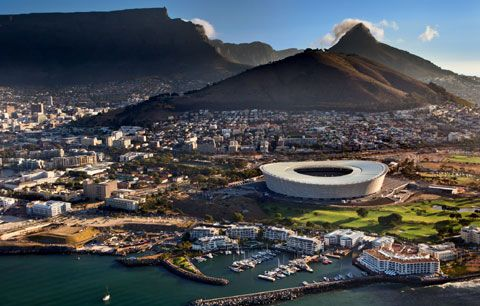 Great view of Cape Town harbour