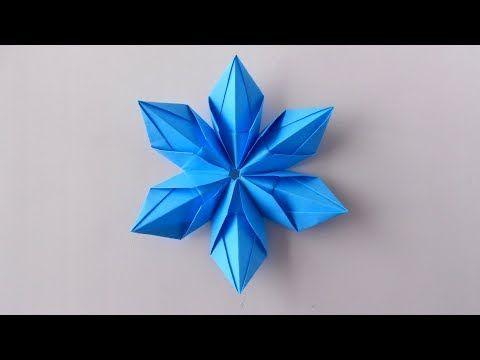 Copo de nieve de papel. Origami Copo de nieve en e…