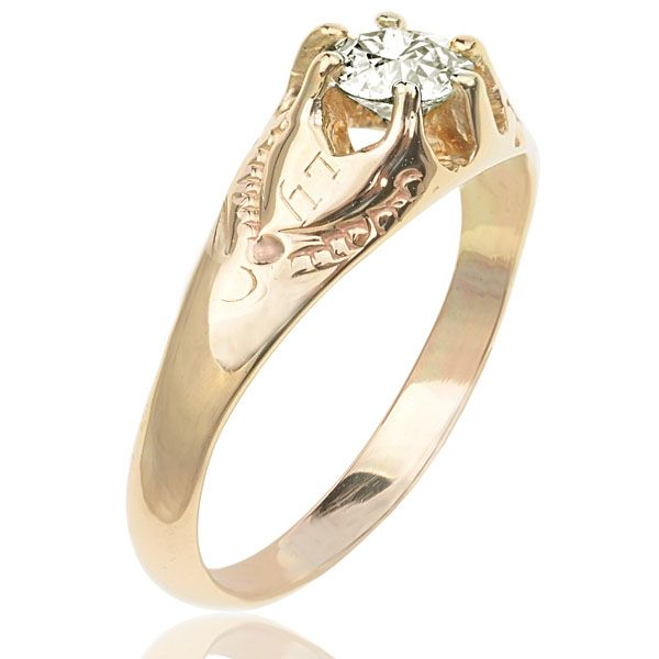 Sweet Solitaire...Diamond Ring with I Do Love You engraved on the shoulders...so romantic!