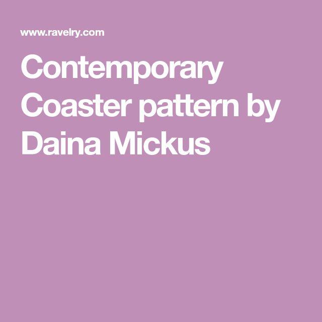 Contemporary Coaster pattern by Daina Mickus