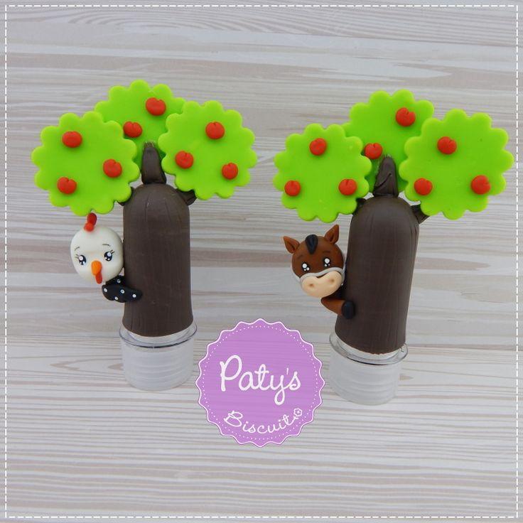 Mini Tubete Árvore com bichinhos - Fazendinha | Paty s Biscuit | Elo7