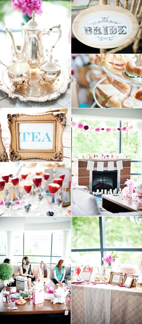 Tea Party Bridal Shower on blog Little White Book