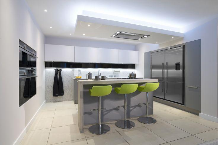 Laser Soft Pearl Grey & White Kitchen