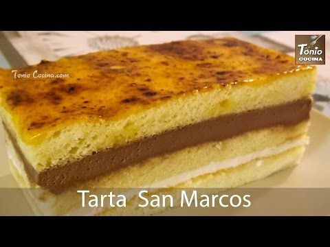 Tarta San Marcos o Tarta de yema tostada
