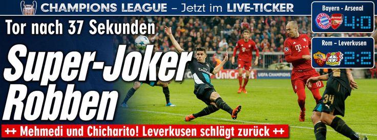 #ChampionsLeague - #FCBayern vs #Arsenal http://sportdaten.bild.de/sportdaten/uebersicht/sp1/fussball/co19/champions-league/#sp1,co19,se18454,ro58798,md0,gm4,ma2479963,pe0,to0,te0,ho209,aw127,rl0,na4,nb2,nc1,nd1,ne1,jt0 #Leverkusen http://sportdaten.bild.de/sportdaten/uebersicht/sp1/fussball/co19/champions-league/#sp1,co19,se18454,ro58797,md0,gm4,ma2479885,pe0,to0,te0,ho138,aw205,rl0,na4,nb2,nc1,nd1,ne1,jt0 Enjoy+GoodNight;)