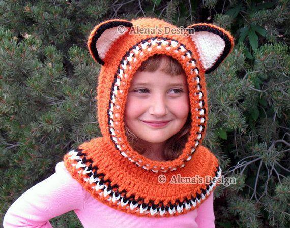 Crochet Pattern 139  Crochet Cowl with Ears Hooded by AlenasDesign