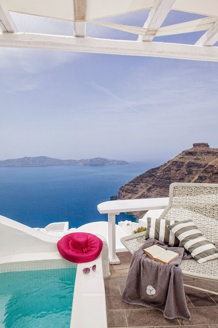 With a unique view to the #volcano of Santorini – the symbol of power of a sea that historically united cultures… #Santorini, #MillHouses