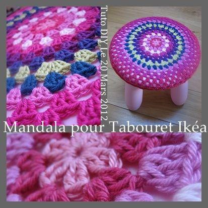 Tuto fran ais pour recouvrir un tabouret au crochet crochet tutos fran ais - Pinterest francais bricolage ...