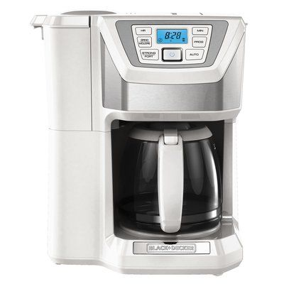 Black & Decker 12-Cup Mill and Brew Coffee Maker Color: White
