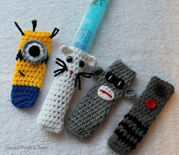 Crochet Jumbo Freezie holder