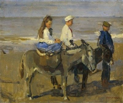 Isaac Israels Boy and Girl on a Donkey www.passionforpaintings.com