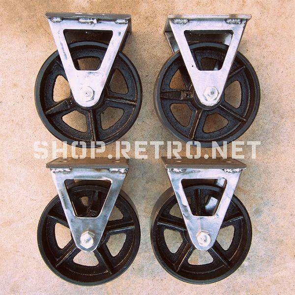 26 best Vintage Industrial Casters Antique Cast Iron Wheels images