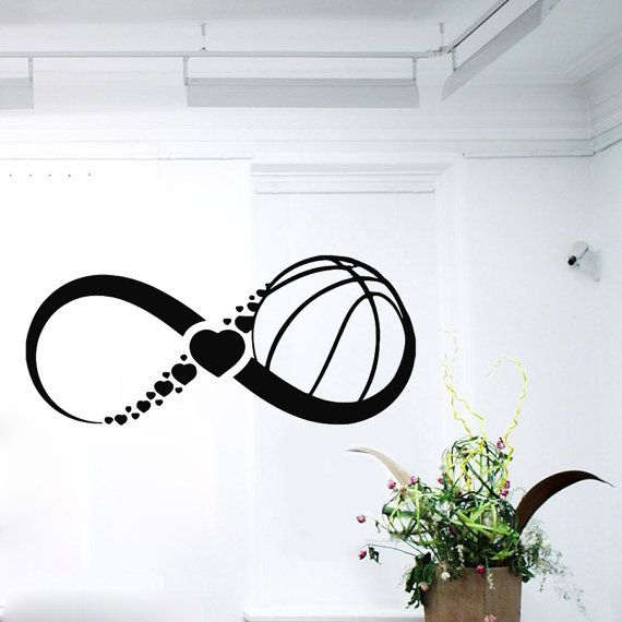 FREE SHIPPING Love Basketball Wall Decals Infinity Sign Boy Girl Sport Sign Hearts Gym Home Vinyl Decal Sticker Baby Kids Room Decor ☆ º ♥ `•.¸.•´ ♥ º ☆ Dear Buyers, Welcome to our shop!☆ º ♥ `•.¸.•´ ♥ º ☆.¸¸.   ☆ SIZE AND COLOR ☆ Approximate Item Sizes:  5 Tall x 11.6 Wide / 13 cm Tall x 30 cm Wide 8 Tall x 19 Wide / 20 cm Tall x 48 cm Wide 10 Tall x 23 Wide / 25 cm Tall x 58 cm Wide 12 Tall x 28 Wide / 30 cm Tall x 71 cm Wide 15 Tall x 35 Wide / 38 cm Tall x 89 cm Wide 18 Tall x 42 Wide…