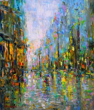 "Saatchi Online Artist Sergej Ovcharuk; Painting, ""Music of the rain"" #art"