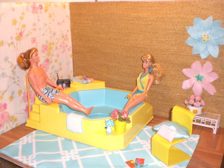 17 best images about barbie pool house on pinterest pool houses barbie house and find ebay for Barbie doll house with swimming pool