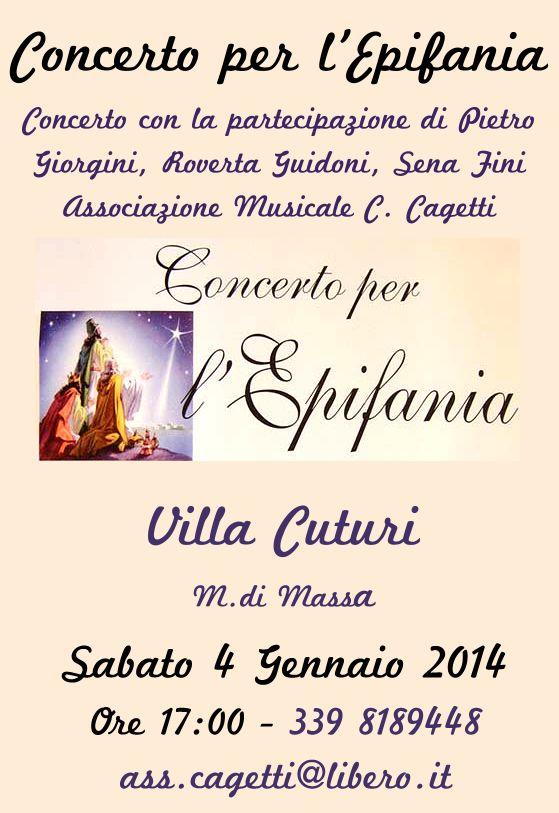 Concerto per l'Epifania Marina di Massa Sabato 4 Gennaio 2014