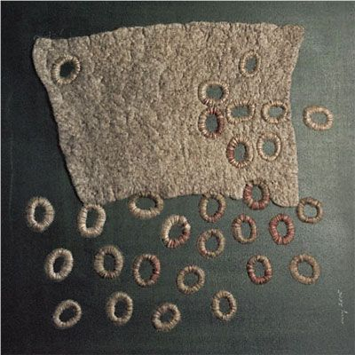 Elisa Markes Young beautiful work with felt/wool and stitches