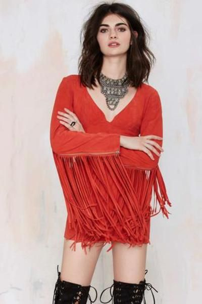 Nasty Gal Joplin Fringe Suede Dress #fringedress #women #covetme #nastygal #fashion #yolo #swag #lifestyle #pink #diva #glitter #highfashion #follow #zara #dolcegabanna women #covetme #nastygal