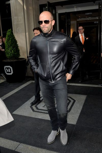 "Actor Jason Statham leaves from The Mark Hotel for the 2016 ""Manus x Machina: Fashion in an Age of Technology"" Met Gala on May 2, 2016 in New York City."