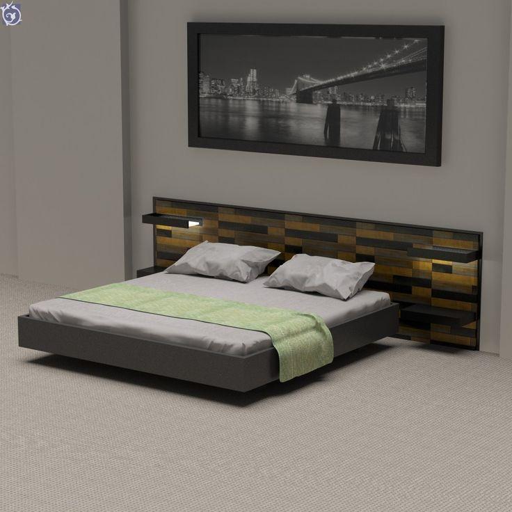 Κεφαλάρι κρεβατιού για δωμάτιο ξενοδοχείου με διακοσμητικά πάνελ με τούβλα σε 3 αποχρώσεις [Σειρά Bricks]