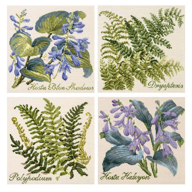 Elizabeth Bradley tapestry cushions: The Shade Garden