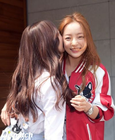 Goo Hara and Heo Young Ji