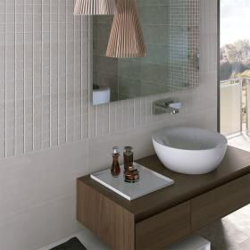 Bleached White Concrete Effect Mosaic Tiles