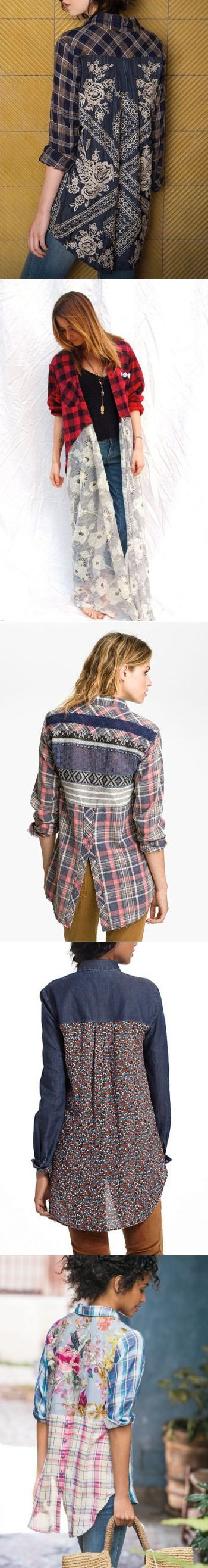 I like the diy redesign of the is plaid shirt