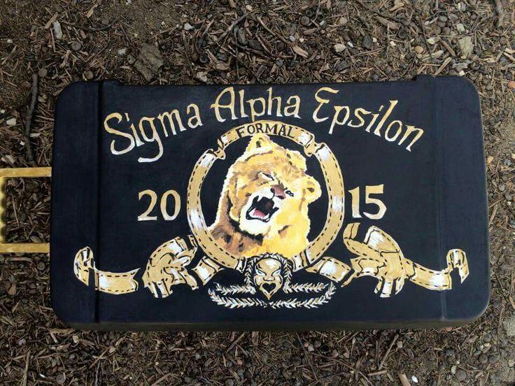 Sigma Alpha Epsilon SAE ΣΑΕ formal 2015 MGM lion logo Metro Golden Mayer film trailer cooler top